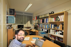 Dr Ignazio Maria Viola working in his office